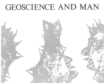 Geoscience and Man